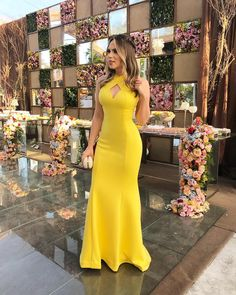 Yellow Mermaid Halter Prom Dresses Satin Evening Formal Gowns · loverlovebridal · Online Store Powered by Storenvy Sexy Evening Dress, Cheap Evening Dresses, Cheap Dresses, Evening Gowns, Trendy Dresses, Elegant Dresses, Fashion Dresses, Beautiful Dresses, Simple Prom Dress