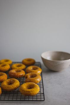 Baked Pumpkin Donuts with a Maple Glaze