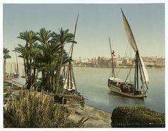 bords du Nil et Dahabieh.