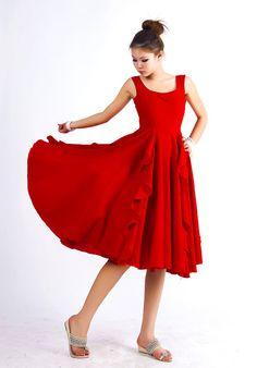 Red linen dress...love it!