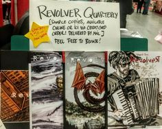 #montrealcomiccon only #deal order all 4 issues of Revolver #comics from me for just $50 CND! Cash or credit card.