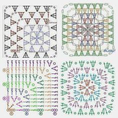 Szydełkiem Gabi malowanie: Babcine kwadraty wzory