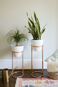 DIY Copper Round Plant Stand
