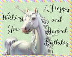 Send magical unicorn birthday wishes to someone who believes in magic! Free online Unicorn Birthday Wishes ecards on Birthday Birthday Celebration Quotes, Birthday Wishes For Kids, Birthday Cakes For Men, Birthday Images, Friend Birthday, Unicorn Birthday, Birthday Quotes, Birthday Greetings, Birthday Nails