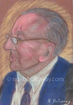 """Portrait of Leo Daly"" by Nuala Holloway - Pastel on Paper. #Westmeath #Writer #IrishArt #Portrait"