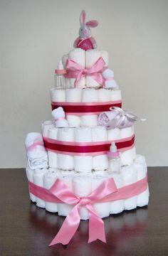 Gâteaux de couche fille Idee Baby Shower, Baby Boy Shower, Baby Shower Gifts, Baby Shawer, Baby Love, Diaper Cake Boy, Diy Cake, Baby Cards, Girl Nursery