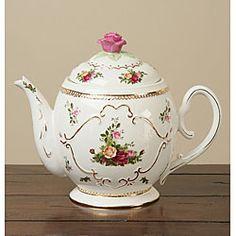 Royal Albert Old Country Roses Teapot Cookie Jar
