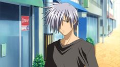 "Yukito Kunisaki from ""Air - 1000th Summer"". Love the gray hair."