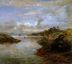 View from Bergen 1834 | J.C.Dahl | Oil Painting  #landscapes