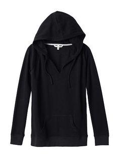 Oversized Hooded Tunic Fleece