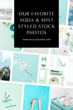Get inspired by these bright aqua and mint stock images for bloggers inspiration. Combining feminine styled stock photography and styled stock photography flat lay, you are going to find all the images your need to uplevel you marketing. Prepare to get inspired to transform your visual marketing with styled stock photos.   turquoise stock photos   stock images for Instagram   scstockshop social squares   #styledstock #visualmarketing #blogimages Social Media Images, Social Media Design, Photo Stock Images, Stock Photos, Stock Imagery, Aqua Blue Color, Blog Images, Flat Lay, Color Inspiration
