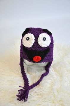 Grimace Crochet Hat by JLloPhotographyProps on Etsy, $20.00