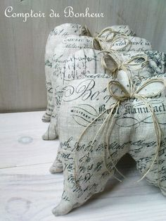 Ailes d'ange....angel wing pillows or potpourri sacks?