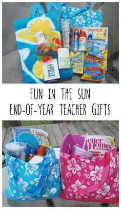 Your teachers have done so much for your kids this year -- give them a great end-of-year gift! This tote holds everything they need for a day of fun in the sun. I've done this for our teachers so many times, and they always love the gift!