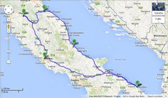 A tour to central Italy. A road trip with so many images and flavors.