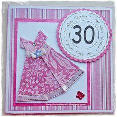 Różowa sukienka Handmade Birthday Cards, Diy Birthday Cards, Homemade Birthday Cards