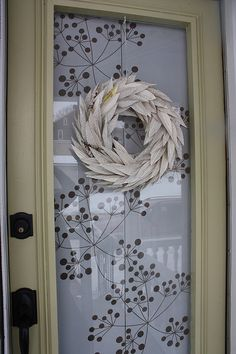 Book page wreath (I love the door/window covering too)