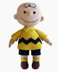 Crochet Pattern – Charlie Brown / Virkmönster Karl i Snobben - Stofftiere Cute Crochet, Crochet Crafts, Crochet Dolls, Crochet Baby, Crochet Projects, Knit Crochet, Ravelry Crochet, Crochet Beanie, Amigurumi Doll