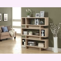 Natural Reclaimed-look Modern Bookcase - Overstock™ Shopping - Great Deals on Media/Bookshelves
