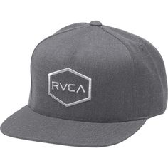 197f0f8e41ae2 RVCA Commonwealth Snapback Hat (80.150 COP) ❤ liked on Polyvore featuring  accessories