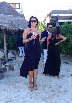 Sophisticated Beach Attire --- wedding in Tulum. Dress by Rebecca Taylor Beach Wedding Guest Attire, Blue Beach Wedding, Beach Attire, Boho Wedding Dress, Bridal Dresses, Bhldn Wedding Gowns, Beach Formal, Rebecca Taylor, Tulum