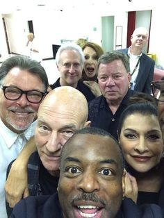 "It's happened…the ultimate Star Trek reunion selfie. | The ""Star Trek: The Next Generation"" Cast Have Taken The Ultimate Reunion Selfie"