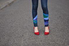 DIY Painted Colorblock Jeans