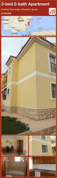 3-bed 2-bath Apartment in Ciudad Quesada, Alicante, Spain ►€129,000 #PropertyForSaleInSpain