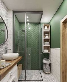 Most Popular Small Bathroom Remodel Ideas on a Bud. - : Most Popular Small Bathroom Remodel Ideas on a Bud. Bathroom Design Decor, Bathroom Interior Design, Green Bathroom, Bathroom Makeover, House Interior, Modern Bathroom, Bathroom Renovations, Bathroom Decor, Small Bathroom Remodel