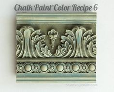 Great Chalk Paint color recipes for painted moldings and furniture. via Paint Pattern Chalk Paint Projects, Chalk Paint Furniture, Hand Painted Furniture, Distressed Furniture, Furniture Design, Furniture Wax, Furniture Makeover, Chalk Paint Finishes, Chalk Paint Colors