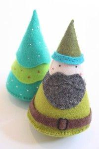 DIY Felt Santas, Gnomes, Elves, Trees Etc... Very Cute!