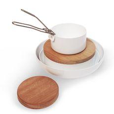 multifunctie kookset ABCT   7-delig: pannen, schalen, deksels, planken en handvat