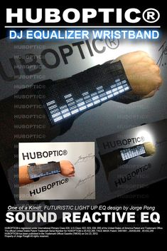 DJ Wristband EQ Equalizer Wrist Arm Sleeve Light Up by HUBOPTIC