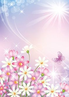 Flowery Wallpaper, Flower Background Wallpaper, Flower Backgrounds, Wallpaper Backgrounds, Wallpapers, Background Clipart, Cartoon Background, Borders And Frames, Borders For Paper