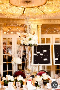 Dramatic Innovation - Floral Design - Event Design - Florist - Tall Wedding Centerpiece