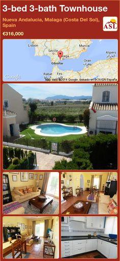 3-bed 3-bath Townhouse in Nueva Andalucia, Malaga (Costa Del Sol), Spain ►€316,000 #PropertyForSaleInSpain