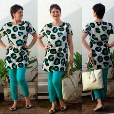blog v@ LOOKS | por leila diniz: 2LOOKS: bata de fundo claro estampada com onça ali...