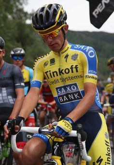 Rafal Majka of Poland riding for Tinkoff-Saxo prepares for the start of stage one of the 2014 USA Pro Challenge on August 18, 2014 in Aspen, Colorado.