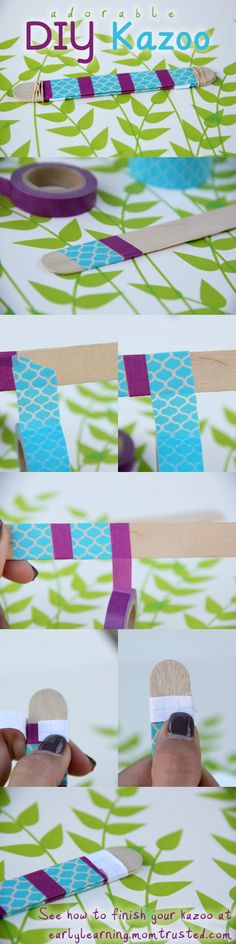 DIY Popsicle Stick Kazoo...made this with my niece and she loved it!