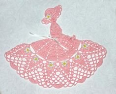 Tickled Pink Lily Crinoline Girl Doily