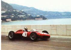 pinterest.com/fra411 #vintage #formula W - olfgang Von Trips, Ferrari 156, 1961 Monaco GP