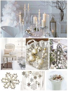 An White Christmas Party—beautiful white • silver • crystal details❣ finestationery • Flickriver