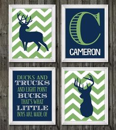 Deer nursery decor boys nursery decor navy by customedgestudio