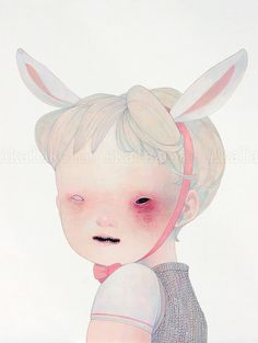 A twisted view on Japan's 'kawaii' culture by Hikari Shimoda - Bleaq Art And Illustration, Arte Inspo, Aya Takano, Arte Peculiar, Arte Obscura, Creepy Art, Electronic Art, Horror Art, Monster