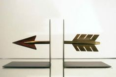 arrow bookends. perfect for those heavy school books.
