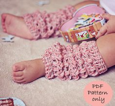 Instant download - Crochet PATTERN (pdf file) - Cashwool Leg Warmers (sizes baby to adult) $5.00