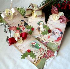 Gorgeous ! iralamija: Easy Christmas Tags