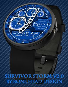 Survival Storm v2.0 Blue watch face preview