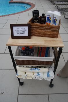 Apartment Marketing - Poolside service and hydration station