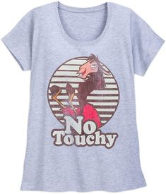 61684f3283f4 Disney Kuzco Retro T-Shirt for Women Cute Disney Shirts